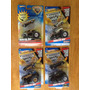 Set De 4 Monster Jam Duo, Incluye Batman Y Hot Wheels Duo