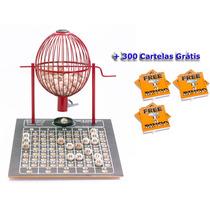 Globo Bingo Medio Nº2 Com 300 Cartelas Vermelho