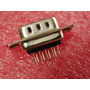 2x Conector Ficha Db9 Macho Recto P/ Circuito Impreso Pcb