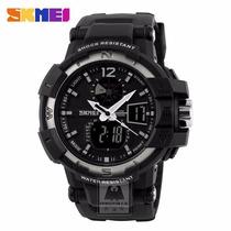 Skmei Reloj Deportivo Y Militar Dual Time 5 Atm