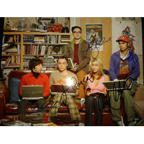 Fotografia Firmada The Big Bang Theory Reparto Original