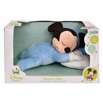 Peluche Sleeping Baby Mickey Minnie Luz Y Melodia Disney