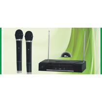 2 Microfonos Profesionales Inalambricos Base Vhf K908
