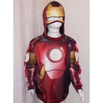 Blusa Em Moleton Infantil Super Heróis Homem De Ferro