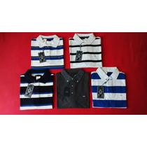 Camisa Polo Elle Et Lui Masculina Cinza / Listras M,g
