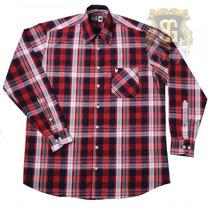 Camisa Tricoline Xadrez Vermelha 6148 - Jaum Jaum