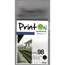 Cartucho Printon Pto98 Negro Compatible Con Hp 98 Sellado