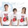Lembrança De Aniversario Smilinguido Camiseta Kit Com 3