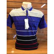 Kit C3 Camisa De Gola Polo Masculino Listrada Lacoste Pronto