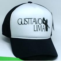 Boné Gustavo Lima Sertanejo Trucker De Tela Aba Curva