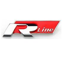 Emblema R-line Vw Jetta Passat Golf Tiguan Gol Fox Rline