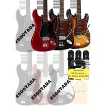 Guitarra Giannini Strato G 100 102 Ggx1 Cores +correia +cabo