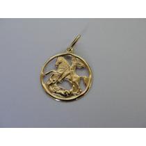 Pingente / Medalha Ouro 18k - Imagem De São Jorge - Linda !