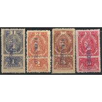 Timbres Fiscales Con Talón 1904 Nuevos 1, 2, 5 Y 10 Centavos