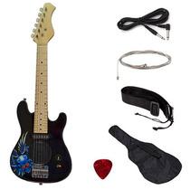 Guitarra Eléctrica Real Para Niño Diestro 76cm Largo