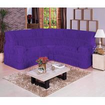 Capa De Sofa De Canto Malha Gel Elasticada Ate 6 Lugares