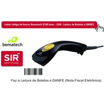 Leitor Código De Barras Bematech S100 Laser Usb - Lê Boletos