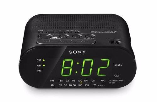 d8c977d77f8 Rádio Relógio Am fm - Despertador - Sony Icf-c218 Branco - R  199