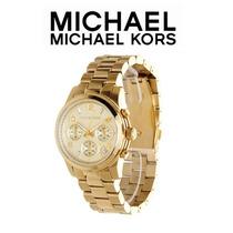 Relógio M K Dourado Barato Luxo Michael Kors Luxo Exclusivo