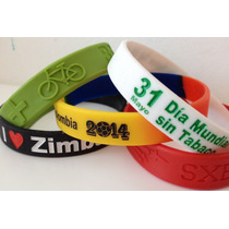 --pulseras Silicon Y Goma ... Personalizadas A Tu Gusto!!!