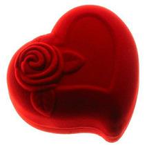 10 Caixinhas Embalagens Para Alianças De Veludo De Coração