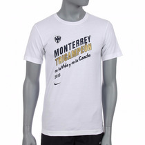 Playera Rayados Monterrey Tricampeones Concacaf 2013 Nike