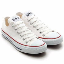 Converse Chuck Taylor All Star Ox Optical White Lona
