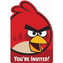 Invitaciones Angry Birds - 8 Piezas