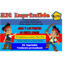 Kit Imprimible Jake Y Los Piratas,invitacion, Fiesta,tarjeta