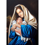 Quadro Nossa Senhora E Jesus 90x70cm Pintura Óleo S/tela