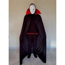 Halloween Capa Vampiro Conde Dracula Para Disfraz De Adulto