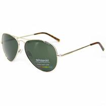 Óculos De Sol Aviador Polaroid 1017 3yg/h8 Dourado Polarizad
