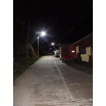 Lampara Solar Led 30w Equipo Completo Alumbrado Publico