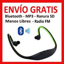 Audifono Mano Libre Diadema Bluetooth Radio Fm Mp3 Ranura Sd
