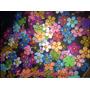 50 Apliques De Flores Em Eva Com Miolinho De Pérola