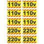 Adesivos De Tomadas 110/220v - Kit C/ 2 Cartelas