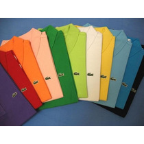 Kit 5 Camisas Camiseta Polo Social Lacoste Sport Atacado Top