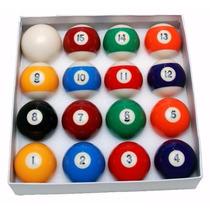 Bola De Sinuca Bilhar Jogo Completo 16 Bolas Bolão