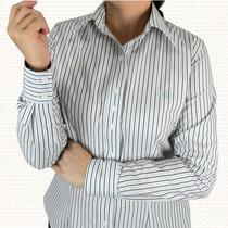 Camisa Feminina Manga Longa Listrada 100% Algodão - Promoção