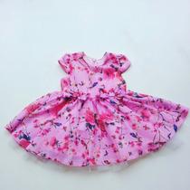 Vestido Pituchinhus Bebê Festa Chifon Rosa - Pmini