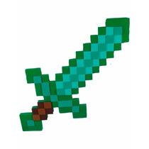 Espada Esmeralda Minecraft 50 Cm - Pronta Entrega Em Eva