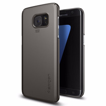 Funda Spigen Thin Fit Samsung Galaxy S7 Edge - Gunmetal Gris