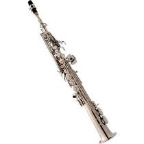 Saxofone Soprano Reto Eagle Sp502 Em Sib Niquelado Com Case