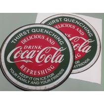 Adesivos Coca-cola Tamanho Disco De Vinil - Diâmetro 29,5 Cm