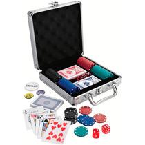 Set Poker Con 100 Fichas Estuche De Aluminio Y Envio Gratis