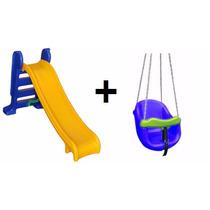 Escorregador Pequeno +balanço Infantil Plastico Menor Preço