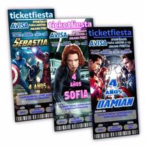 100 Invitaciones Impresas Avengers Urgentes Envío Gratis