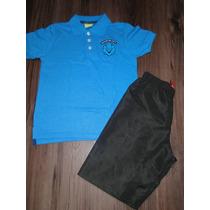 Conjunto Infantil Masculino Polo + Bermuda Tam 6! Novo