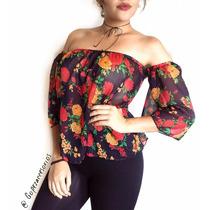 Blusas Dama Casuales Oferta Crop Tops Chifon