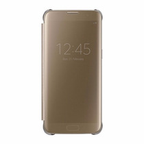 Funda Samsung Galaxy S7 Edge S-view Flip Cover Clear Dorada